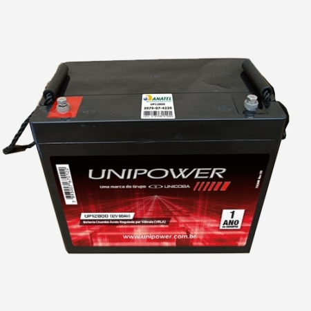 Bateria Estacionária 12V 74Ah UP12800G